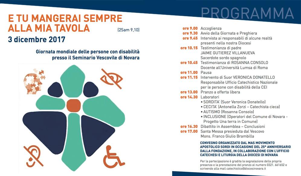 Pastorale diocesana per le Persone Disabili di Novara